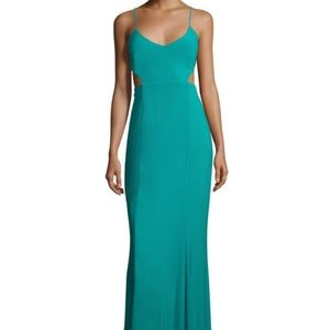 Laundry By Shelli Segal Teal Cutout Dress